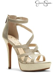 Jessica Simpson Suede Caged Sandal