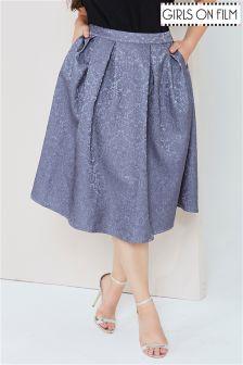 Girls On Film Jacquard Full Midi Skirt