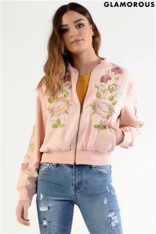 Glamorous Embroidered Bomber Jacket