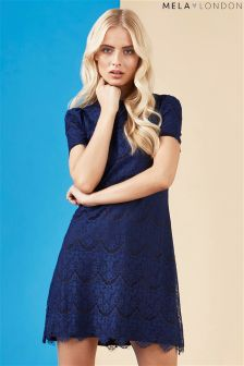 Mela London Lace Detailed Dress