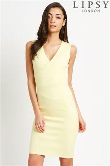 Lipsy Pleated Bodycon Dress