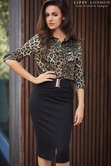Lipsy Love Michelle Keegan Buckle Pencil Skirt