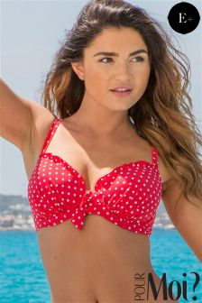 Pour Moi Hot Spots Padded Underwired Bikini Top E+