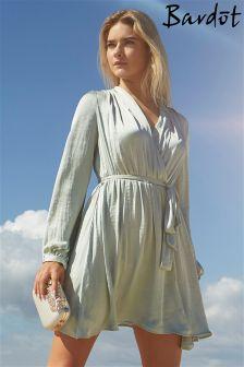 Bardot V neck Wrap Dress