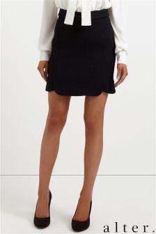 Alter Scalloped Mini Skirt