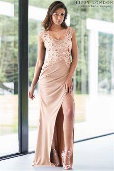 Lipsy Love Michelle Keegan Sequin Artwork Maxi Dress
