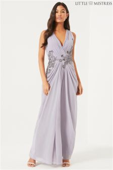 Little Mistress Embellished Maxi Dress