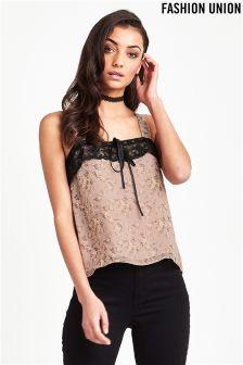 Fashion Union Lace Detail Cami Top
