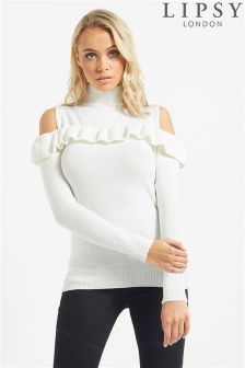 Lipsy Cold Shoulder Ruffle Jumper