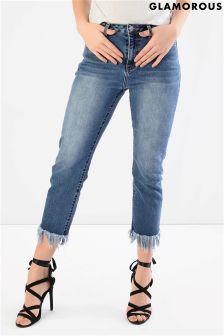 Glamorous Ankle Grazer Raw Hem Skinny Jeans