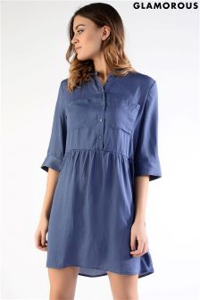 Glamorous Button Up Shirt Dress