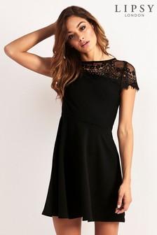 Lipsy Lace Top Skater Dress