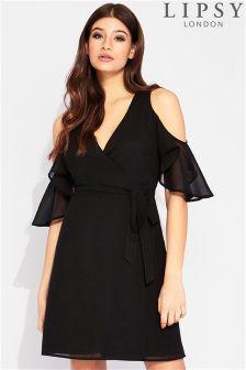 Lipsy Cold Shoulder Wrap Dress