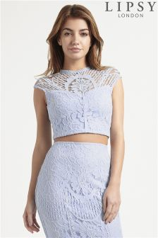 Lipsy Lace Co-Ord Crop Top