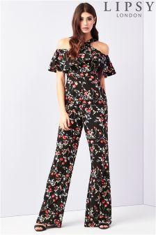 Lipsy Floral Print Halterneck Jumpsuit