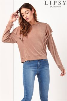 Lipsy Ruffle Long Sleeve Jumper