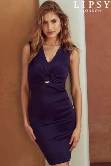 Lipsy Ruched Ring Detail Bodycon Dress