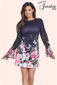 Vestido recto con estampado floral de Jessica Wright