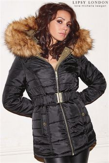 Lipsy Loves Michelle Keegan Reversible Puffer Coat
