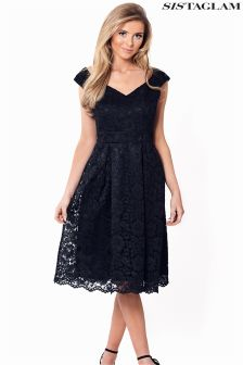 Sistaglam Lace Prom Dress