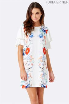 Forever New Ruffle Sleeve Printed Dress