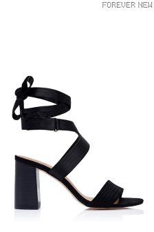 Forever New Block Heel Ankle Tie Sandals