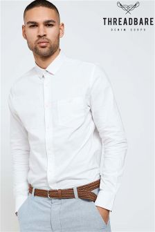 Threadbare Long Sleeve Oxford Shirt