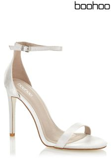 Boohoo Iridescent Barely There Sandals