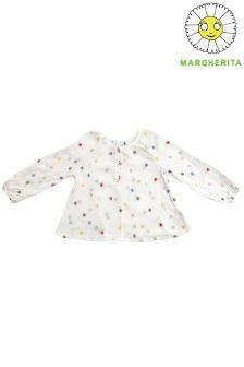 Блузка с принтом в горошек Margherita Kids