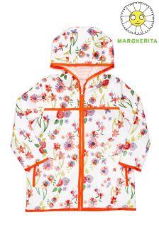 Dziecięcy płaszcz przeciwdeszczowy Margherita z nadrukiem kwiatów