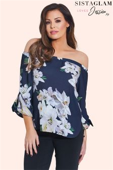 Jessica Wright Floral Bardot Top