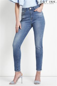 Lost Ink High Waist Skinny Jeans