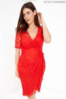 Little Mistress Curve Lace Bodycon Dress