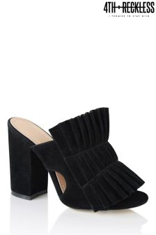 4th & Reckless Pleated Block Heel Mules
