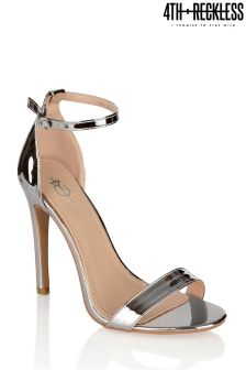 4th & Reckless Barely There Metallic Heeled Sandals