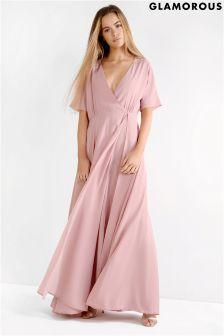 Glamorous Wrap Over Maxi Dress