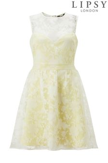 Lipsy Floral Burnout Prom Dress