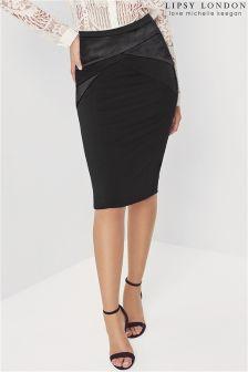Lipsy Love Michelle Keegan Satin Ponte Pencil Skirt