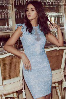 Lipsy Love Michelle Keegan Frill Sleeve Lace Bodycon Dress