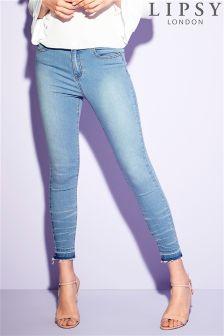 Lipsy Drop Hem Skinny Ankle Grazer Jeans