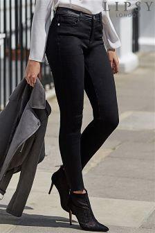Lipsy Super Stretch Coated Waistband Skinny Jeans