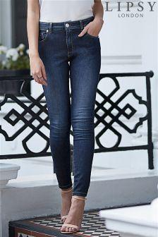 Lipsy Short Rinse Lift And Shape Skinny Jeans