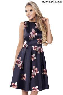 Sistaglam Floral Print  Prom Dress