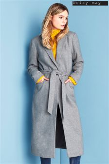 Noisy May Long Sleeve Woolen Coat
