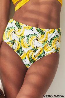 Vero Moda Banana Print  Bikini Briefs