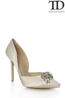 True Decadence Jewelled Court Shoes