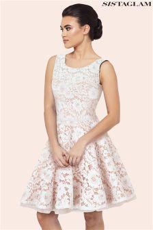 Sistaglam Lace Prom Dress