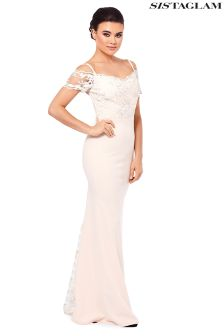 Sistaglam Off The Shoulder Lace Maxi Dress