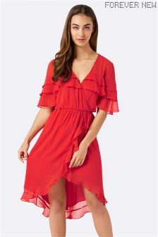 Forever New Ruffle Midi Dress