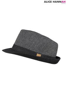 Filcowy kapelusz AH London w jodełkę